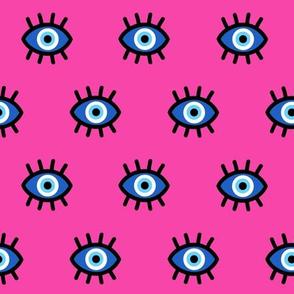 Evil Eye on Pink