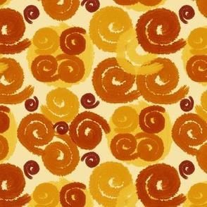 Rust and Caramel Spirals