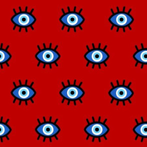 Evil Eye on Red