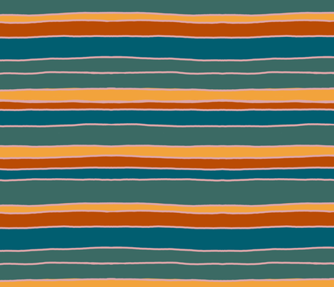 warm cabana stripe fabric by beesocks on Spoonflower - custom fabric