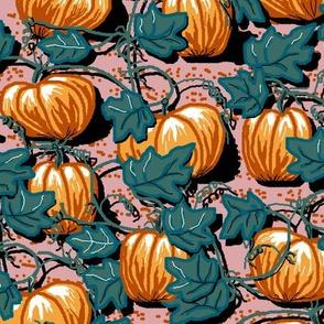 field of pumpkins limited palette Ac
