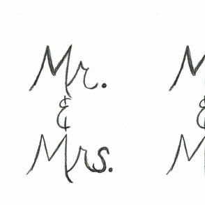 Mr & Mrs handwritten