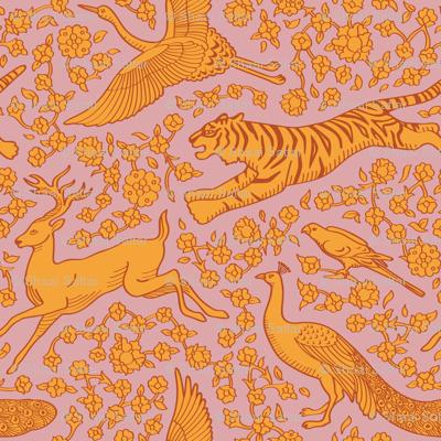 Persian Animals Seamless Pattern
