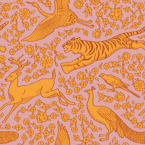 Persian Animals Seamless Pattern