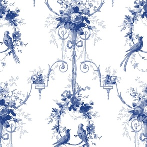 McCallister Toile  ~ Willow Ware Blue and White