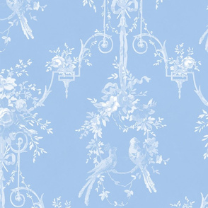 McCallister Toile  ~ Jasper Blue and White