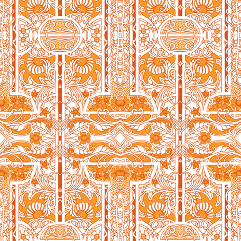 Etched in Marmalade fabric by edsel2084 on Spoonflower - custom fabric