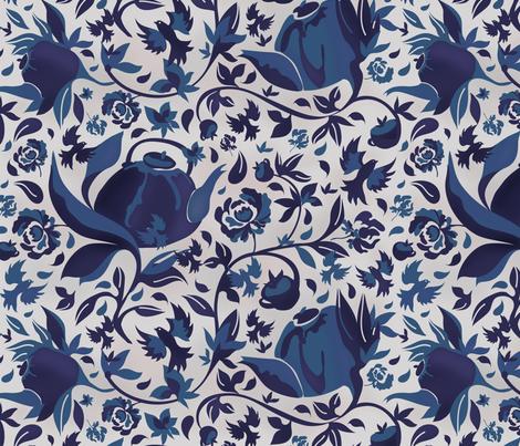Tea time fabric by dragonli on Spoonflower - custom fabric