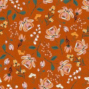 Autumn Blooms - Limited Color Palette