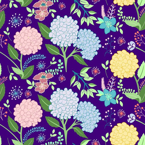 Hydrangeas Pattern
