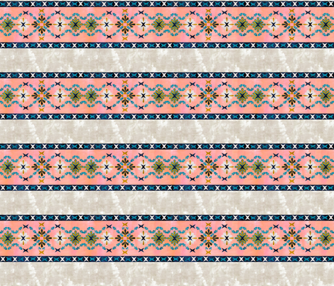 Basic Boho peach Cheater Quilt fabric by schatzibrown on Spoonflower - custom fabric