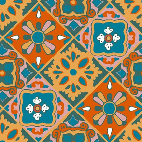 Earth Palette Spanish Tiles