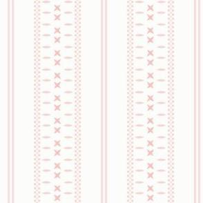 Cross Ladder Stripe: Rose Gold Farmhouse Stripe
