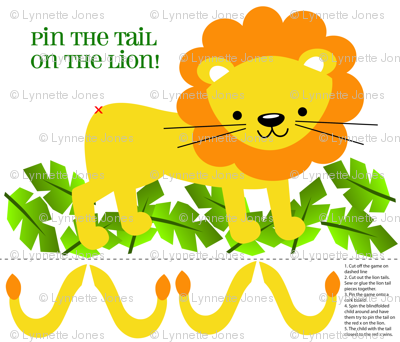 Pin Tail on the Lion Game