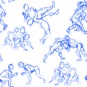 Wrestling-Blue-White