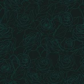 Moody Green Roses