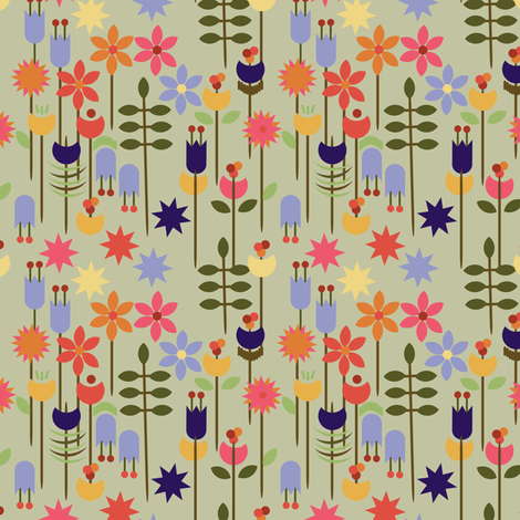 Papercut floral fabric by truejune on Spoonflower - custom fabric