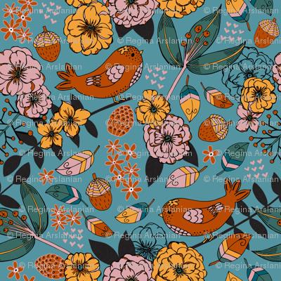 Autumn sketchbook, Teal
