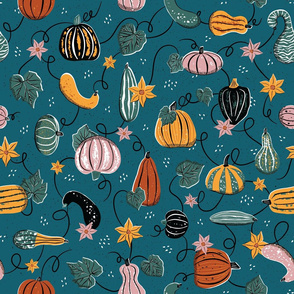 Mid-Century Fall Gourds