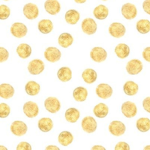 Gold (imitation, not metallic paint) polka dots pattern
