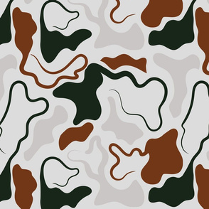 WIGGLE CAMO MODERN ABSTRACT NATURAL