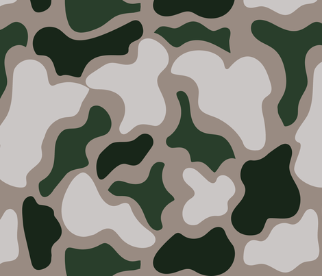 PLAYFUL PUZZLE CAMO GREEN AND SAND fabric by studio_lcy on Spoonflower - custom fabric
