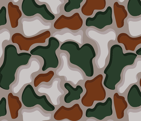 PUZZLE SHADOW 3D CAMO  fabric by studio_lcy on Spoonflower - custom fabric