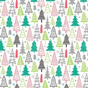 Christmas Holiday Forest Trees Smaller 1,5 inch