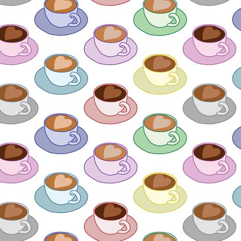 Coffee Mugs fabric by charleyzollinger on Spoonflower - custom fabric