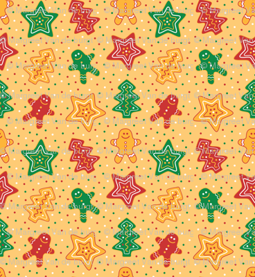 Gingerbread Cookies Yellow
