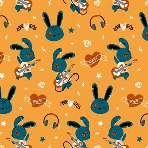 Bunny Rockstar - honey yellow