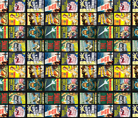 Double Feature (rotated) fabric by ziaco on Spoonflower - custom fabric