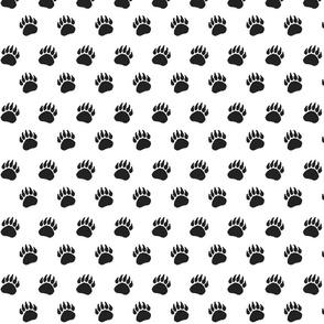 Bear Paw black on white