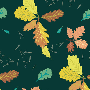 Oak leaves-01