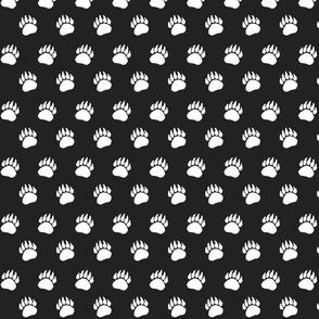 Bear Paw White on Black