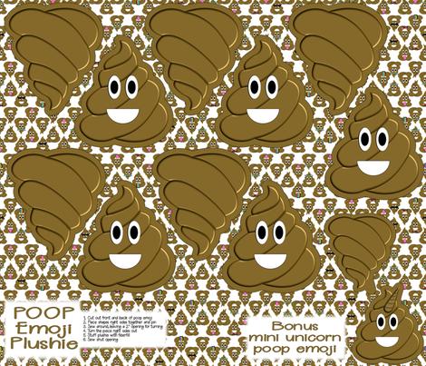 Mini Cut and Sew Poop Emoji Plushie fabric by themadcraftduckie on Spoonflower - custom fabric