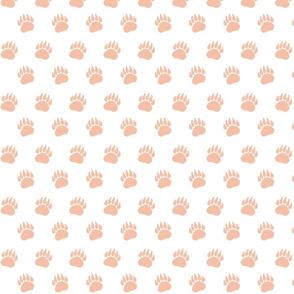 Bear Paw Blush on White