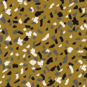 terrazzo fabric, terrazzo style fabric, terrazzo pattern, terrazzo fabric by the yard, modern fabric by the yard, trendy 2019 fabric, 2019 trend fabric, ss 18 19 fabric, modern fabric - ochre