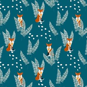 Foxes and Ferns, Winter on Dark Ocean