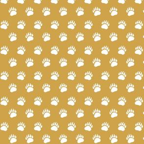Bear Paw White on Gold