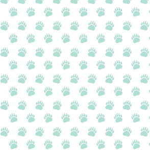 Bear Paw Mint on White