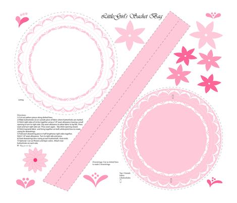 Little Girls Sachet Bag  fabric by annalei on Spoonflower - custom fabric