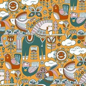 Swedish Folk Art The Limited Color Palette Design Challenge
