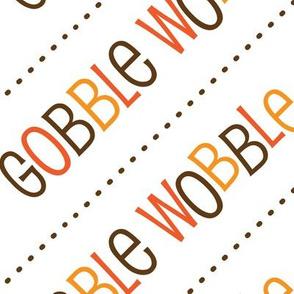 Thanksgiving  Turkey Gobble Wobble Thanksgiving Pattern Diagonal Fall Colors