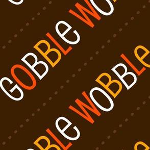 Thanksgiving  Turkey Gobble Wobble Thanksgiving Pattern Diagonal Brown