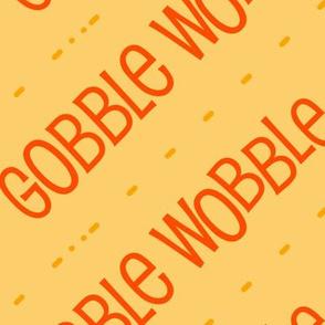 Thanksgiving  Turkey Gobble Wobble Thanksgiving Pattern Diagonal Orange Gold