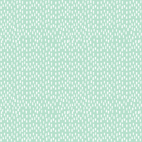 "4"" White Dashes - Minty Background fabric by shopcabin on Spoonflower - custom fabric"