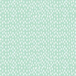 "4"" White Dashes - Minty Background"