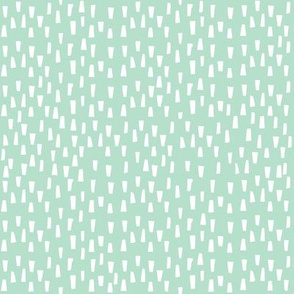 "8"" White Dashes - Minty Background"