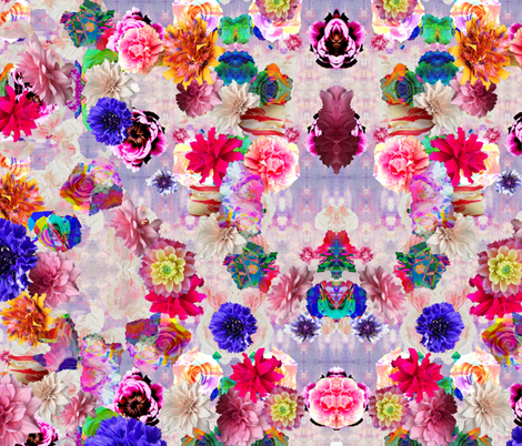 Feisty Florals fabric by nymphaeastudio on Spoonflower - custom fabric
